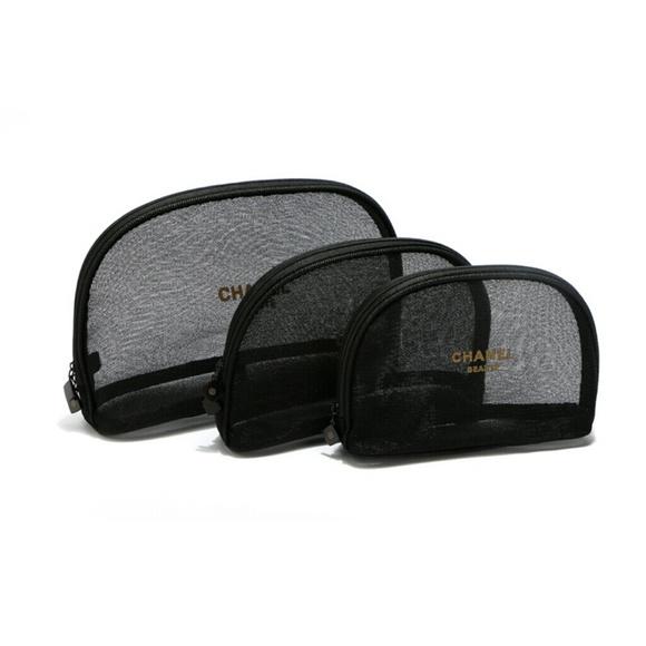 8fea31bc4327 CHANEL Accessories | Authentic Mesh Cosmetic Bag Small | Poshmark