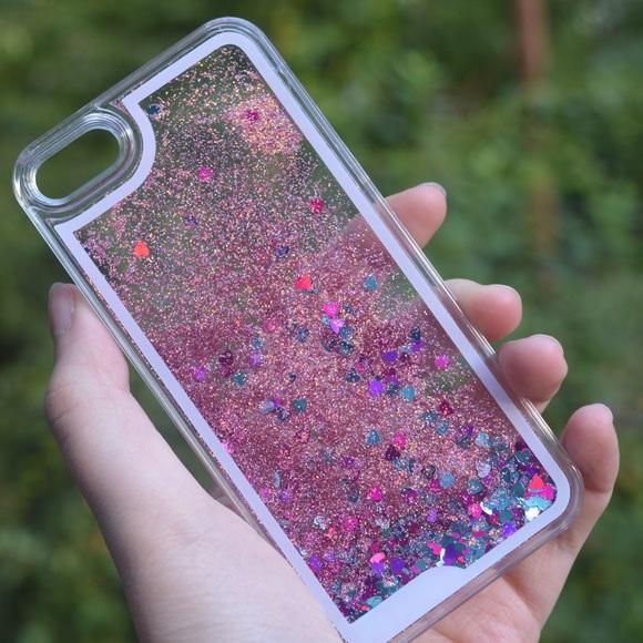 pretty nice 3a1f3 e7939 SALE! Pink Liquid Glitter Case NWT