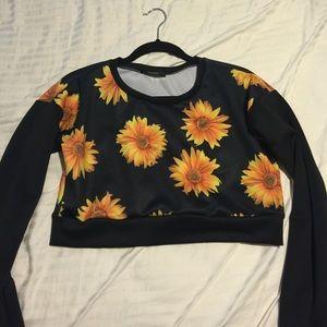 Long sleeve Sunflower Crop  [F21]
