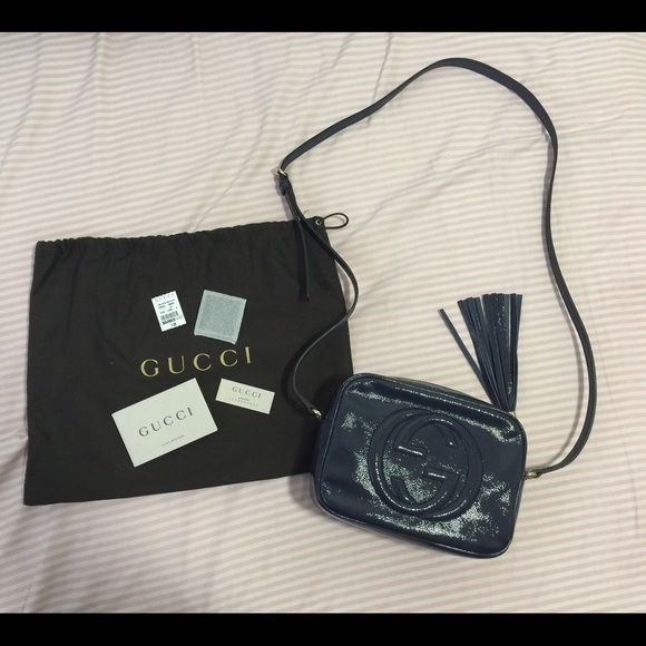 1301891c4 Gucci Bags | Final Sale Soho Disco In Patent Navy | Poshmark