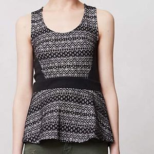 Anthropologie sculpted lace tank