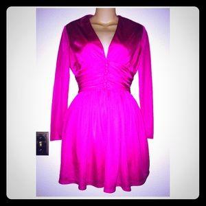 Vintage Fuchsia 80s Mini Dress