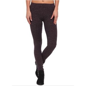 Free People purple heather knit leggings
