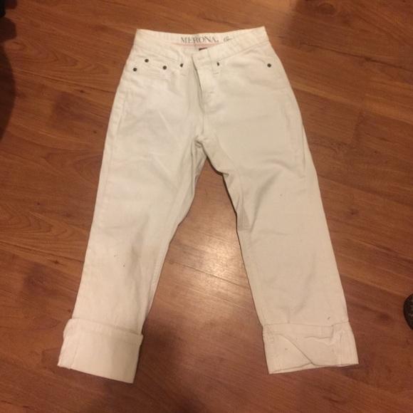 80% off Merona Pants - Target brand merona white jean capris from ...