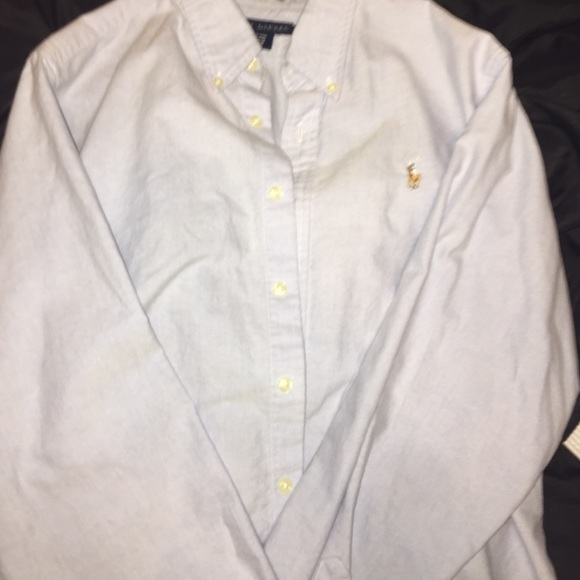 59% off Polo by Ralph Lauren Tops - Light blue button up polo long ...