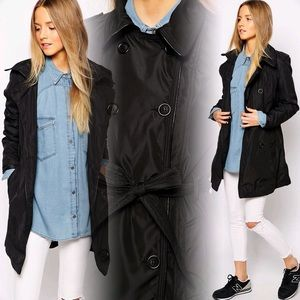 ASOS Jackets & Blazers - Chic Black Trench Coat