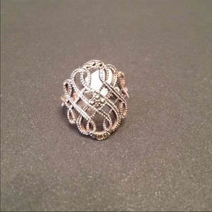 Jewelry - Marcasite Sterling Silver Ring Sz.9
