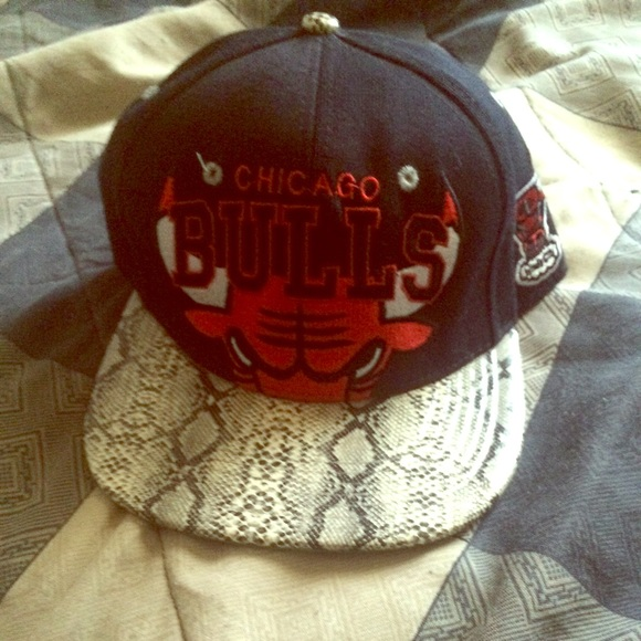Snapback Accessories - Chicago Bulls snakeskin hat 14aaf3b67
