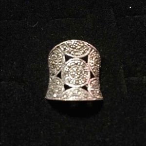 Jewelry - Marcasite Sterling Silver Ring Sz.7