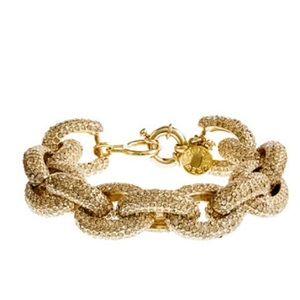J. Crew Jewelry - JCrew classic pave link bracelet