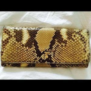 72% off Prada Clutches \u0026amp; Wallets - PRADA snake skin wallet from ...