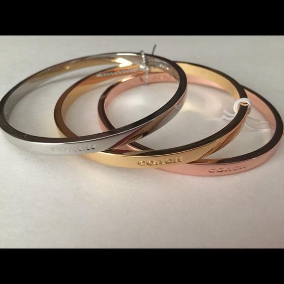 8e3444933 Coach Jewelry | Set Of Three Tricolor Bangles | Poshmark