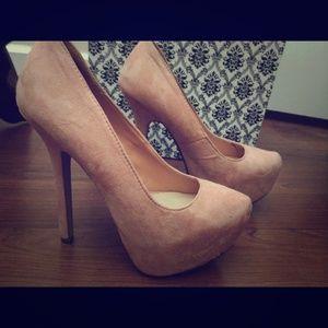 Pink/nude heels