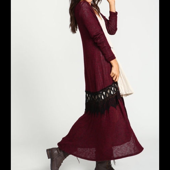 Boutique - 🎉HP🎉NEW Boho Burgundy Long Maxi Cardigan SZ S from ...