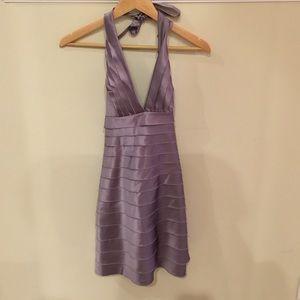 BCBG lavender halter dress