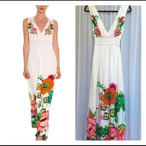 Desigual Divertido Maxi White Dress