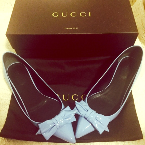 39 off gucci shoes gucci light blue patent leather ballerina flats from tiffany 39 s closet. Black Bedroom Furniture Sets. Home Design Ideas