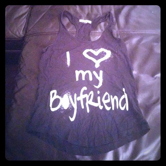 Tops - I love my boyfriend tank