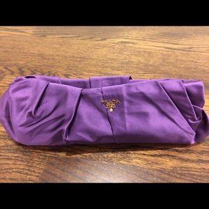 prada crossbody messenger - 7% off Prada Handbags - NWOT Prada Raso Gathered Purple Clutch ...