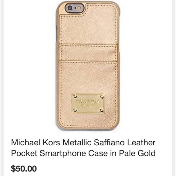 wholesale dealer 57ba7 75b80 Metallic saffiano leather iPhone 6 case
