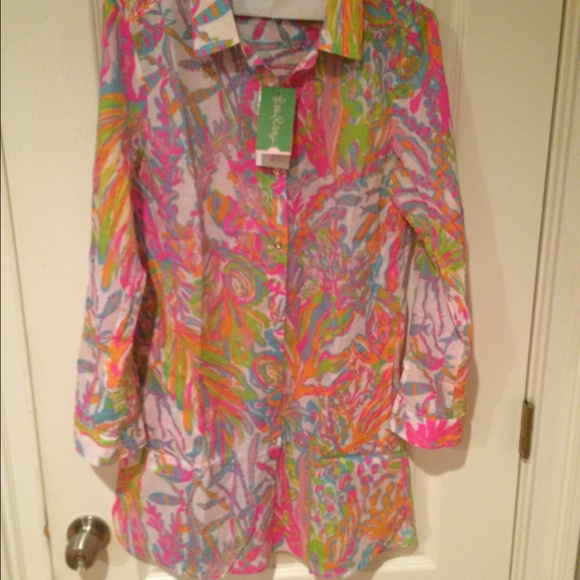 c3df8fc7094 Lilly Pulitzer Jupiter Island Cover up