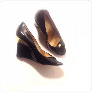 Tahari Shoes - Tahari Patent Leather Wedges💢SOLD💢