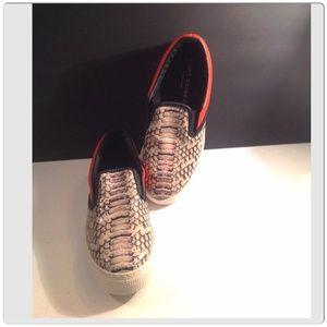 Kurt Geiger Shoes - Kurt Geiger Leather Snakeskin Slip-ons💢SOLD💢