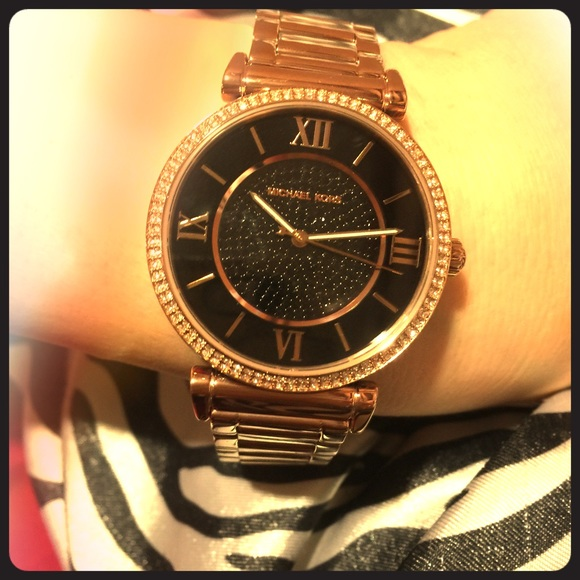 4597c08c979d Michael kors gold watch with black face   Shopping bourbon country ...