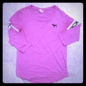 VS PINK baseball style shirt size XS