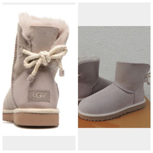 UGG authentic Selene rope bow boots Sz 10 new