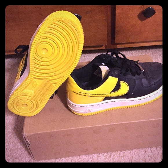 Black and Yellow Air Force Ones.