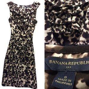 Banana Republic Sleeveless Animal Print Dress