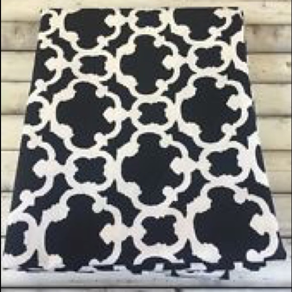 Curtains Ideas black and white patterned curtains : THRESHOLD - THRESHOLD BLACK & WHITE PATTERN CURTAIN PANELS (2 ...