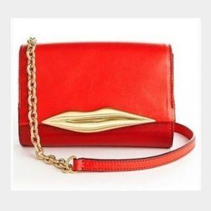 DVF Diane Von Furstenberg Red Lips Bag Purse