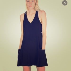 Black Zara pockets dress