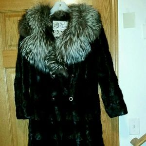 Vintage Full length mink coat,converts to a jacket