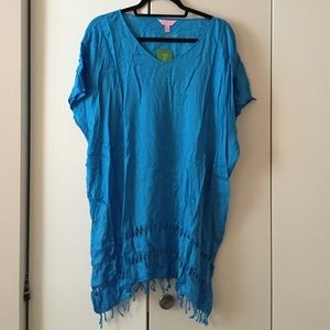 Lilly Pulitzer Blue Beach Coverup