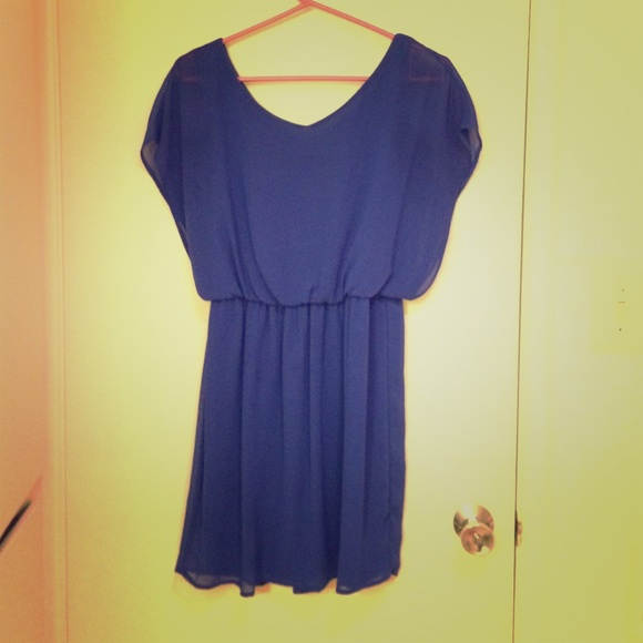 47% off Lush Dresses & Skirts - Cobalt Blue chiffon dress ...