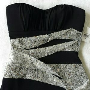 09c50abdda6 Ruby Rox Dresses - Strapless black and silver tube dress