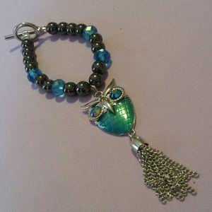 Women's owl tassel bracelet