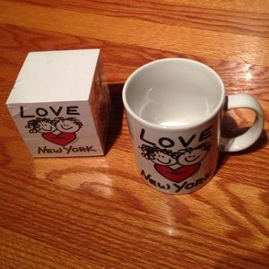 Other - Mug and sticky note pad cube love from New York