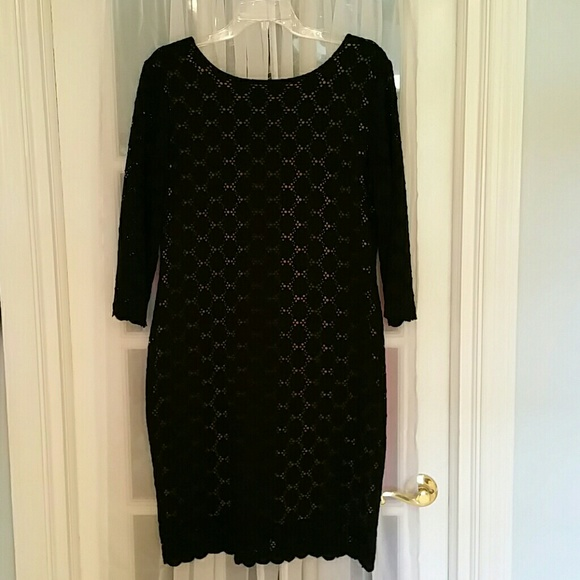 Ronni nicole black lace dress
