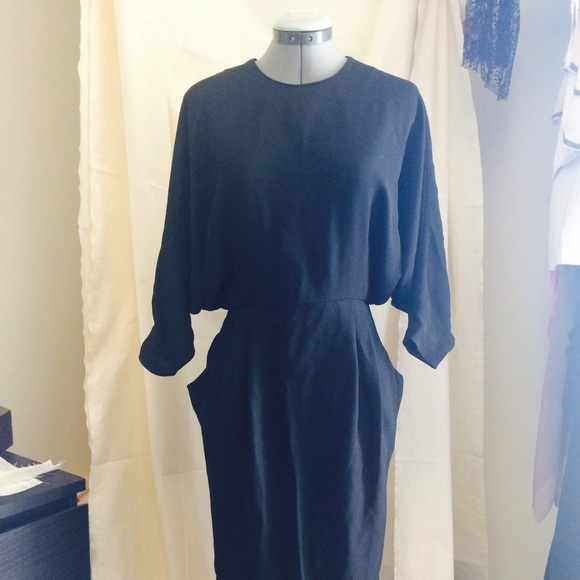97ebd5332d Black Midi Open Back Dress -   Other Stories