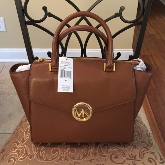Michael Kors Hudson Satchel Leather NWT