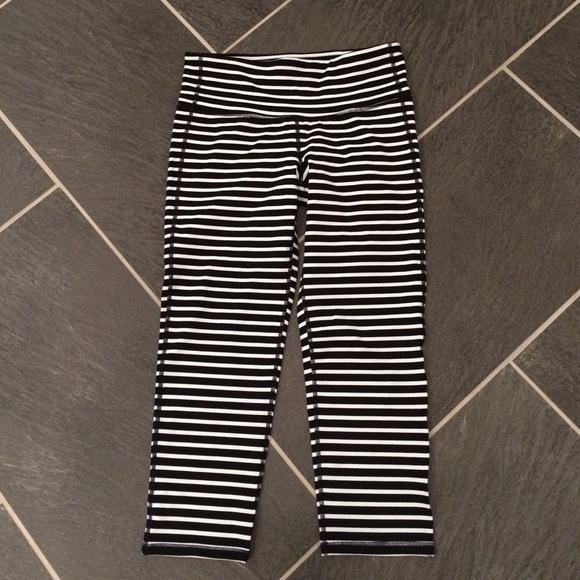 30% off Athleta Pants - Athleta - striped Capri yoga pants from ...