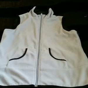 Lined baby blue vest