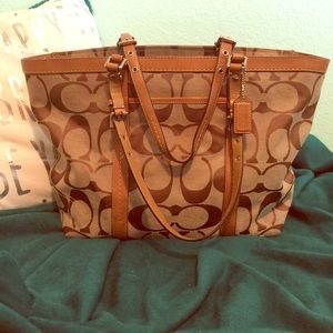 Large Coach Signature Gallery Tote