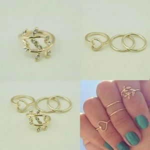4pcs knuckle ring set