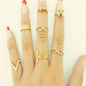 7pcs knuckle ring set