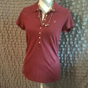 American Eagle Outfitters Tops - 🎉HP🎉 {American Eagle, Size L}  Maroon Polo